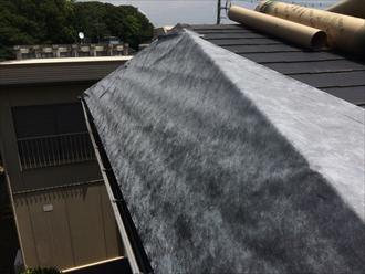 屋根カバー工事を行うための下葺き
