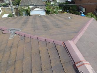 台風15号で被災したコロニアル屋根
