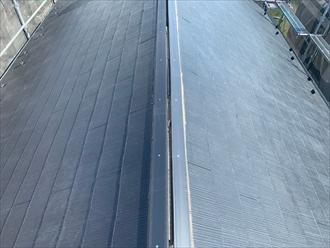 樹脂製の貫板を使用して棟板金交換工事
