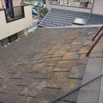 使われていた屋根材はスレート屋根、アーバニーでした