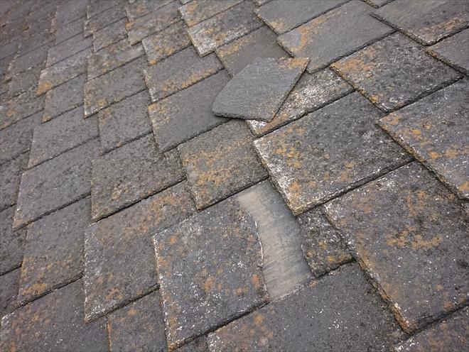 横割れして屋根にかろうじて残っていたアーバニー