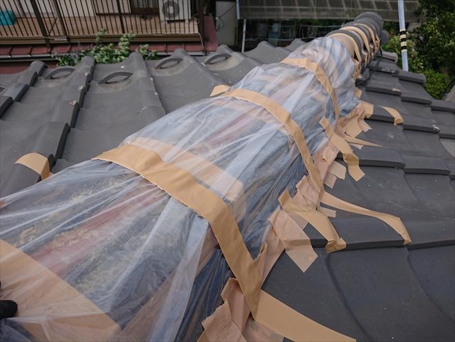 漆喰のメンテナンスをしていない棟は倒壊しやすい