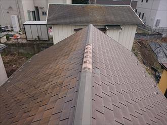 横須賀市根岸町にてスペリオルネオが使用されていた屋根が令和元年東日本台風の影響で破損、屋根カバー工事にて復旧致しました