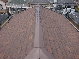 葉山町一色にてニチハのパミールが使われた化粧スレート屋根のメンテナンス、オークリッジスーパー(ブラウンウッド)を使用したカバー工事