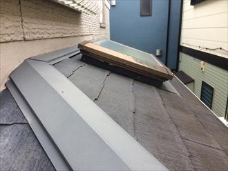 スレート屋根に使用された板金もメンテナンス