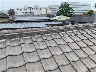 逗子市桜山で令和元年東日本台風で破損した瓦屋根を、棟瓦取り直し工事で災害復旧しました