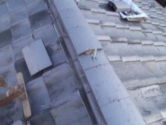 のし瓦を使った棟取り直し工事