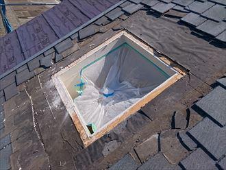 天窓設置の下地組