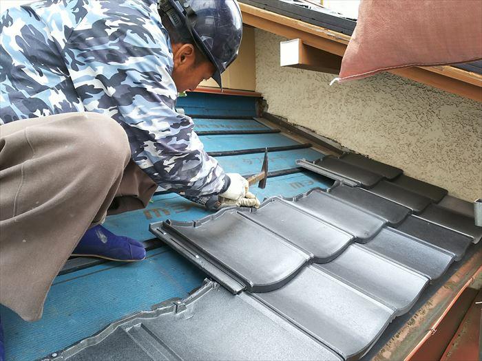 ルーガによる屋根葺き替え工事