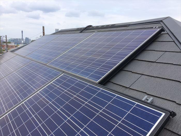 太陽光発電を取り付けた屋根