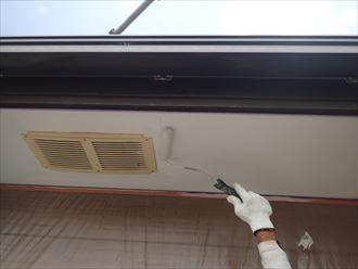 軒天張り替え 仕上げの塗装
