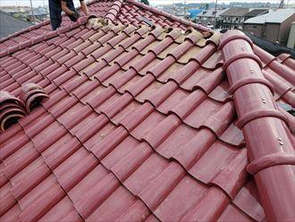 屋根上での作業