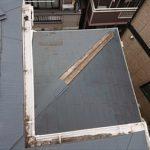 二階屋根から見える下屋根