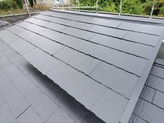 横浜市鶴見区東寺尾でスレート屋根のメンテナンス、スレートを塗装してより長持ちさせます