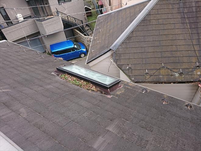 天窓廻りからの漏水