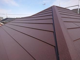 三浦市栄町にて雨漏りが発生した天窓を塞ぎスーパーガルテクトでカバー工事、強風で変形した雨樋も交換しました