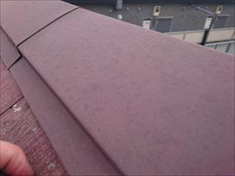 雹の跡があります