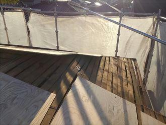 屋根版増し張り工事