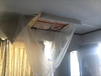 家の天井が抜けてしまった