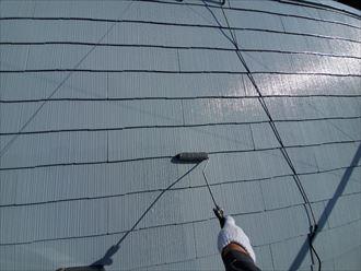 中塗りの上から再度パーフェクトベストを上塗りをし仕上げします