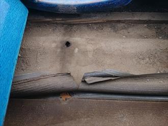 防水紙の劣化が雨漏りの原因です