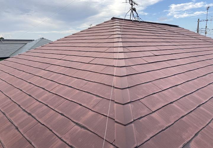 スレート屋根の調査