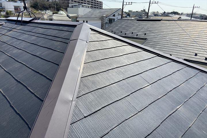 塗装を施されている屋根は綺麗に見えますが