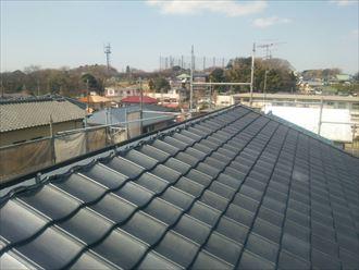 防災瓦の屋根葺き替え工事完了