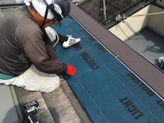 屋根カバー工法の手順 屋根材設置