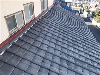 和瓦の屋根を葺き替え工事