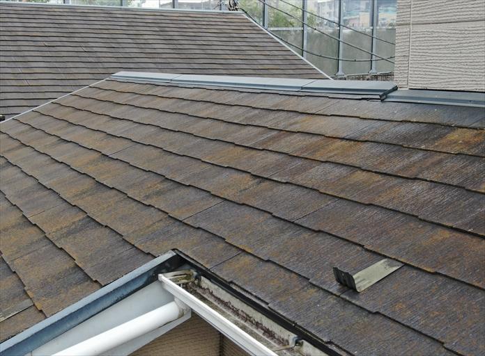 築17年のスレート屋根の調査