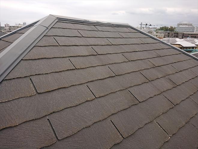 割れているように見えた屋根