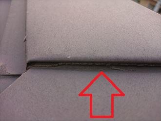 シーリングが劣化し板金同士に隙間が出来てしまっています