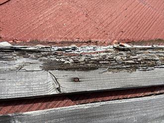 下地木材の貫板が著しく劣化