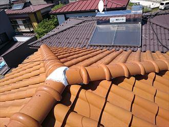 洋風な瓦屋根