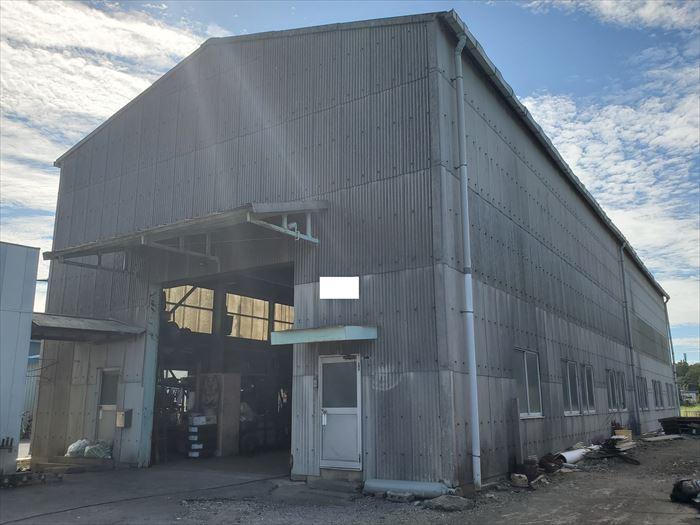 倉庫の屋根修理