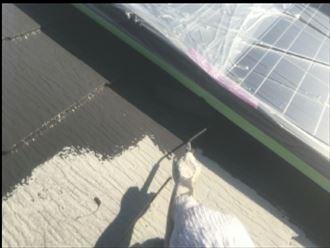 ソーラーパネル養生後に塗装