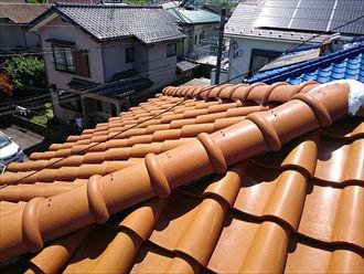 洋風の瓦屋根