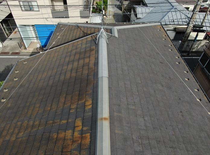 築年数の経過したスレート屋根の点検