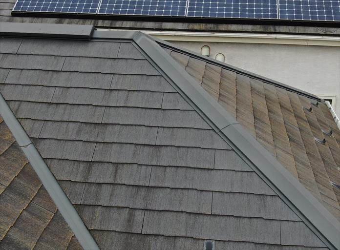 メンテナンスしていないスレート屋根の点検