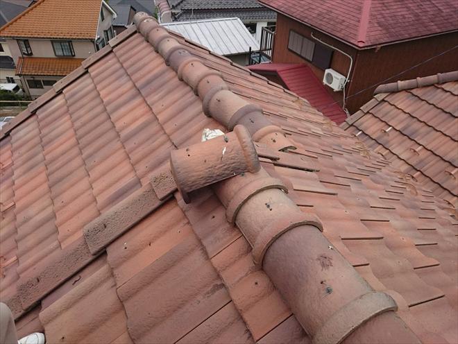 棟瓦の積み方