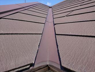雨水の溜まりやすい屋根の谷部分