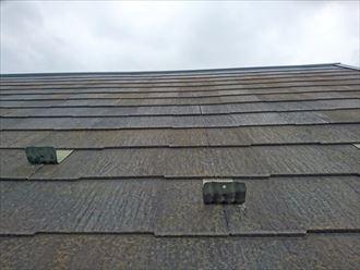 塗膜が劣化して防水機能の下がったスレート屋根