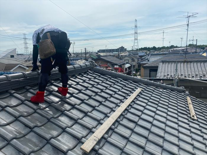 瓦屋根の歩いていいところ