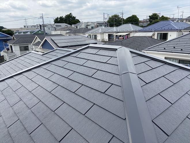 塗装2年後のスレート屋根