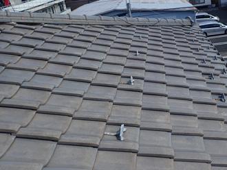 瓦屋根から金属に屋根葺き替え工事 工事前の様子