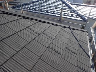 瓦屋根から金属に屋根葺き替え工事 工事後 エコグラーニに葺き替え