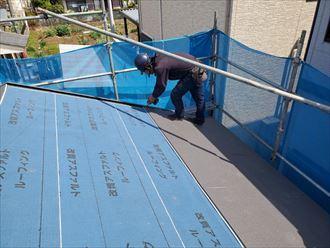 屋根の全面貼り替え工事