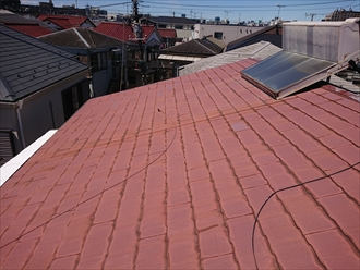 ソーラーパネルがのっていた屋根は縁切りがされておりません