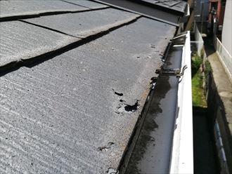 表面に劣化の見受けられるパミール屋根
